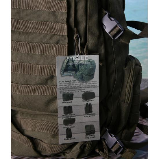 92f2dc1c493 Donkergroene rugzak Assault 60 liter bij Speelgoed voordeel, altijd ...